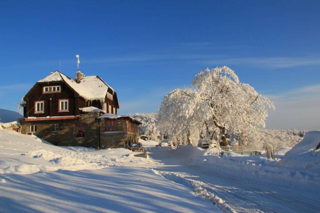 Rodinná lyžovačka na Veľkej Javorine, Holubyho Chata