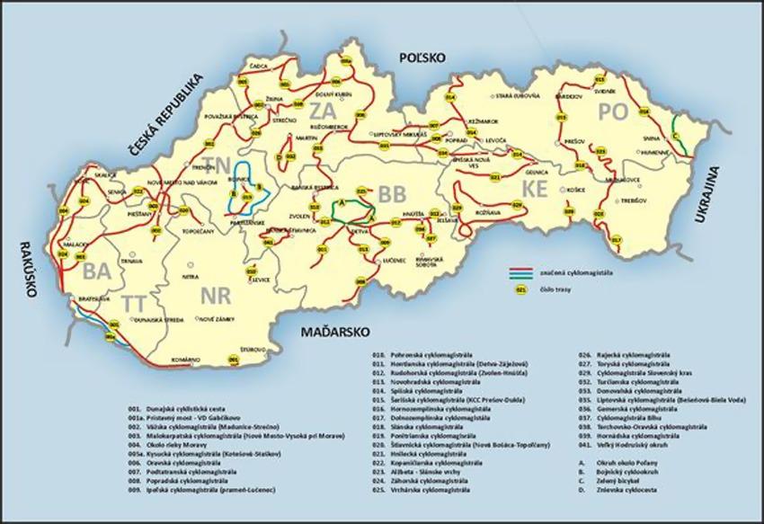 Cykloklub Mapa