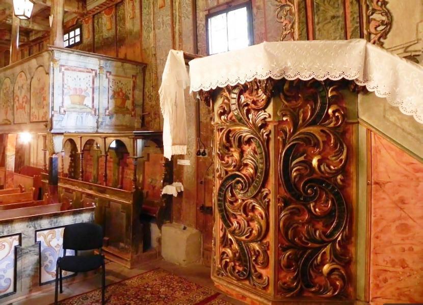 Drevený artikulárny evanjelický kostol Leštiny