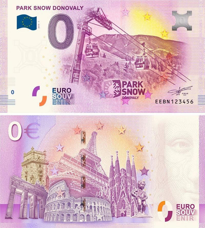 Suvenírová eurobankovka