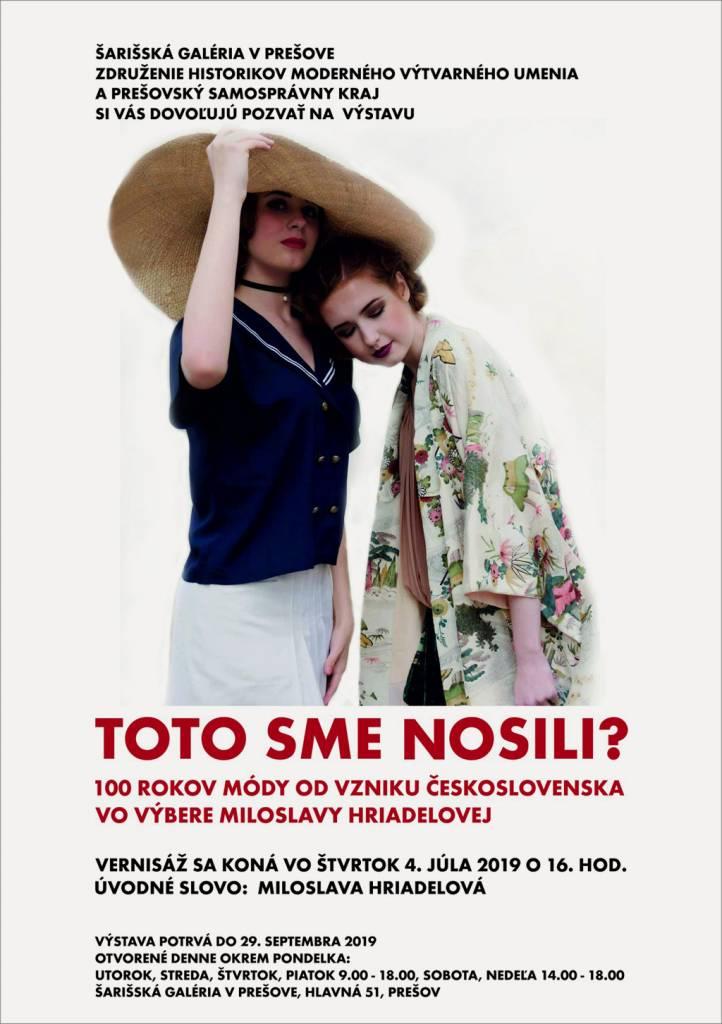 Šarišská Galéria TOTO SME NOSILI 6