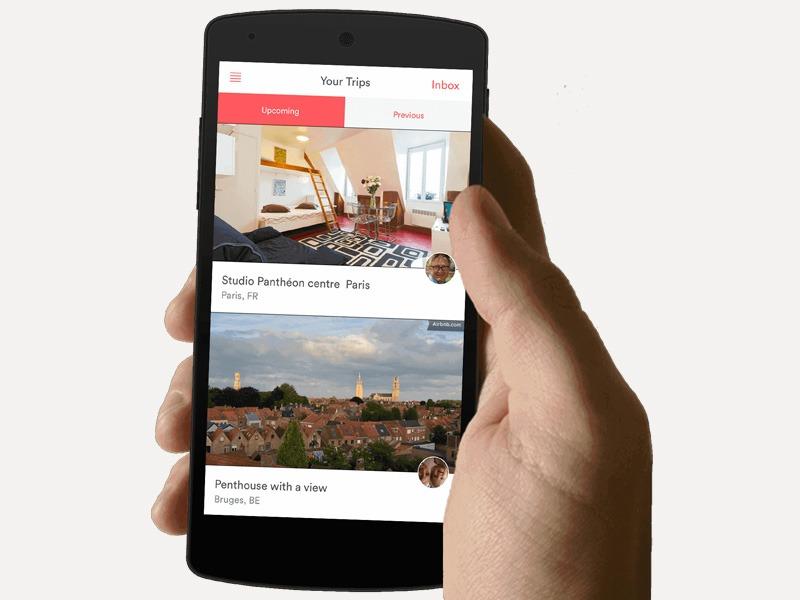 aplikácií, Mobilné aplikácie, Airbnb