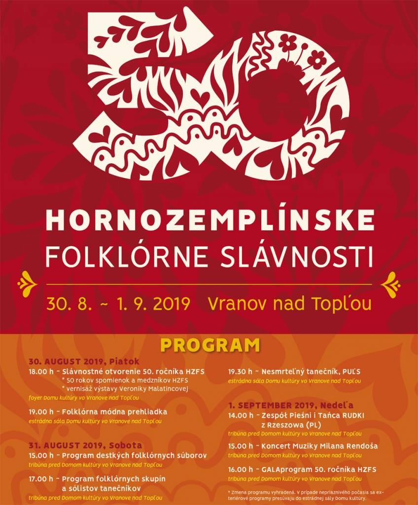 50 Hornozemplínskych Folklórnych Slávnostiach Vo Vranove Nad Topľoul