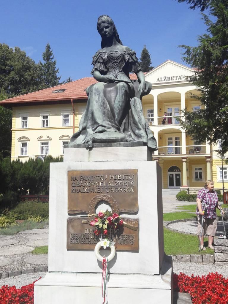 Bardejovske Kupele, pamätník SISI