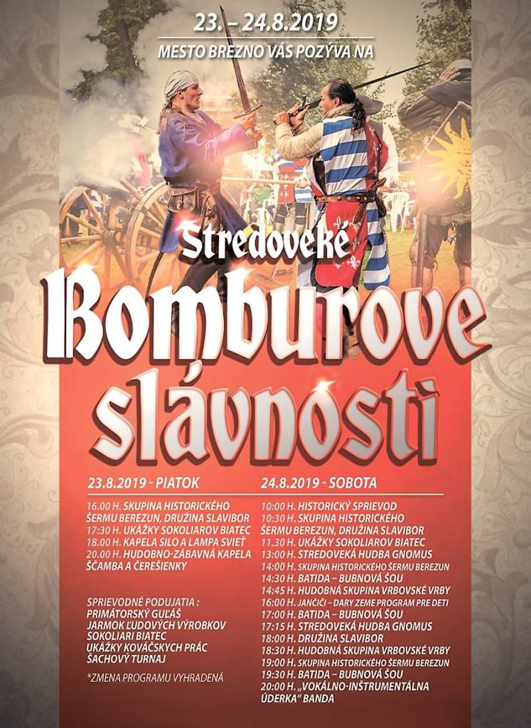 Bomburove slávnosti program
