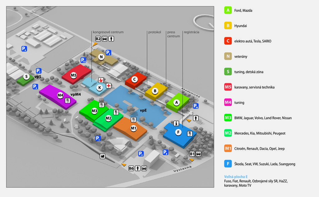 AUTOSHOW NITRA 2019 mapa