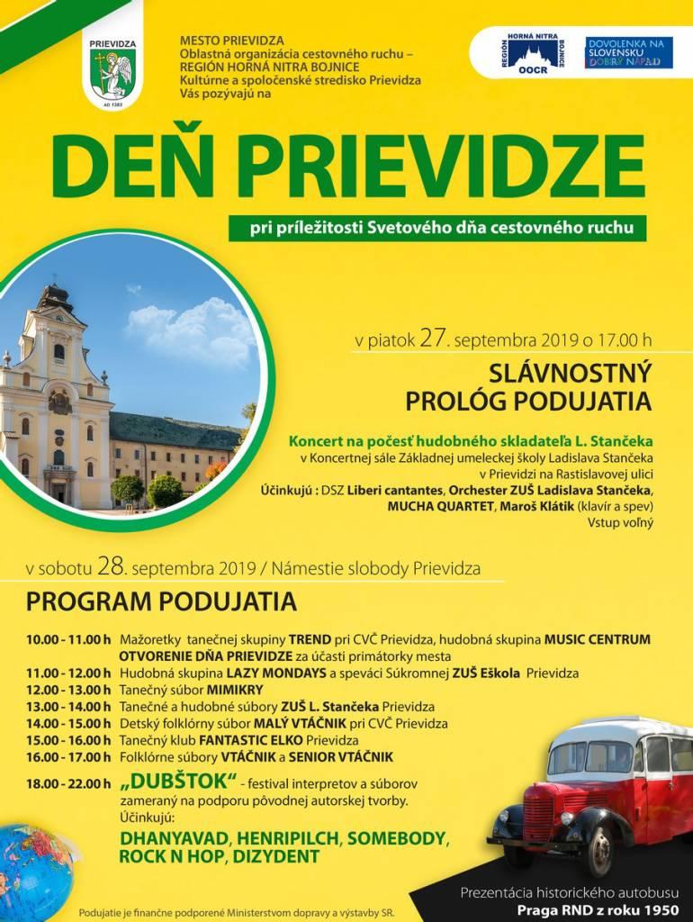 Deň cestovného ruchu, deň Prievidze