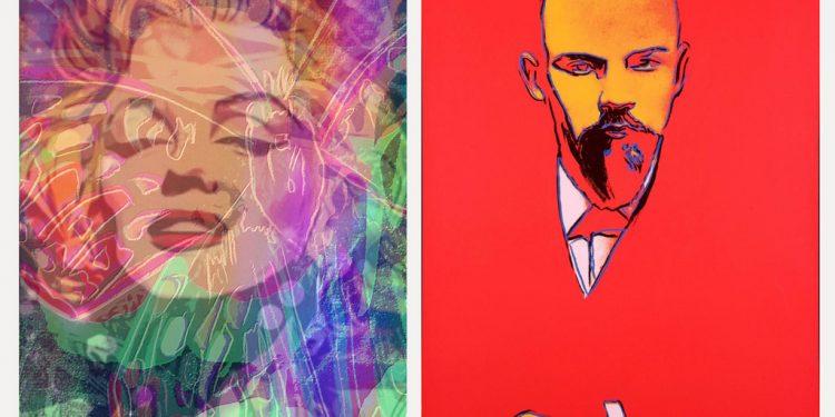 Merilyn a Lenin Andy Warhol