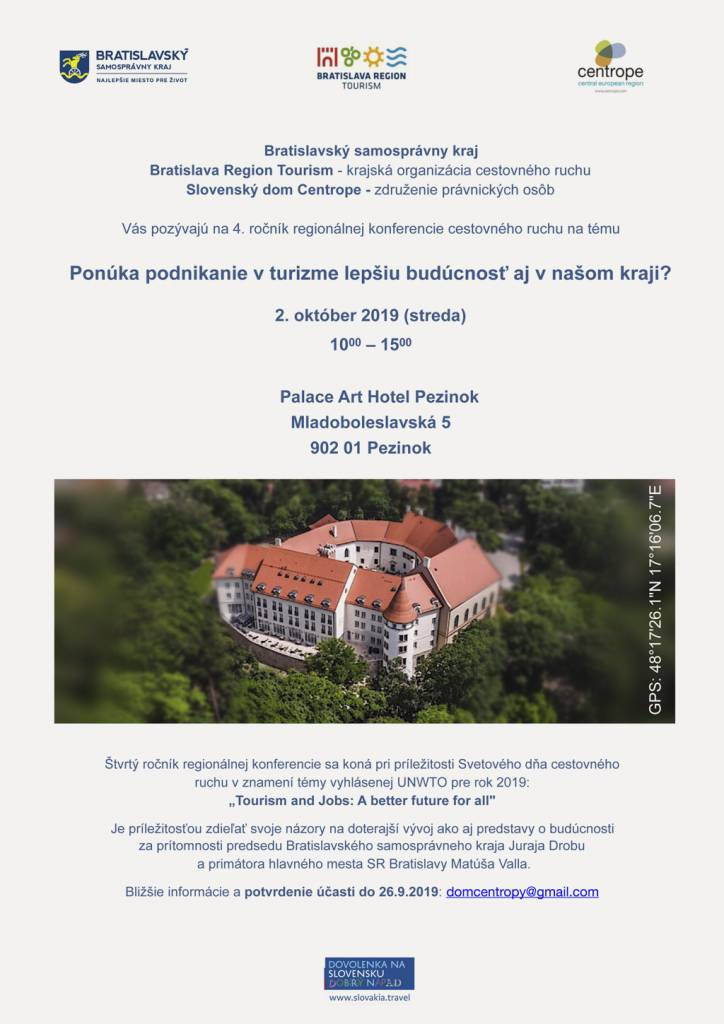 Pozvanka a program 4. regionalna konferencia CR