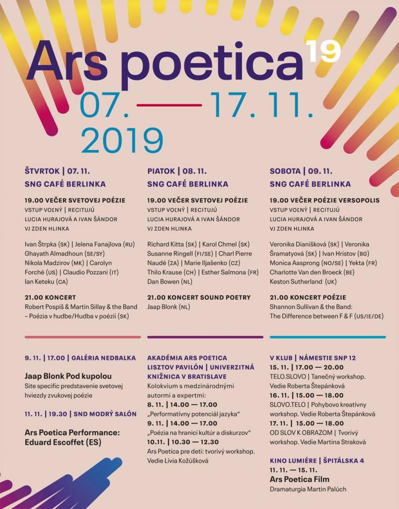 Festival poézie Ars Poetica plagat