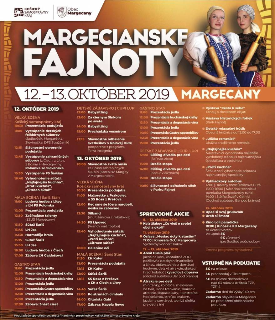 Margecany festival dobrot 2019 program