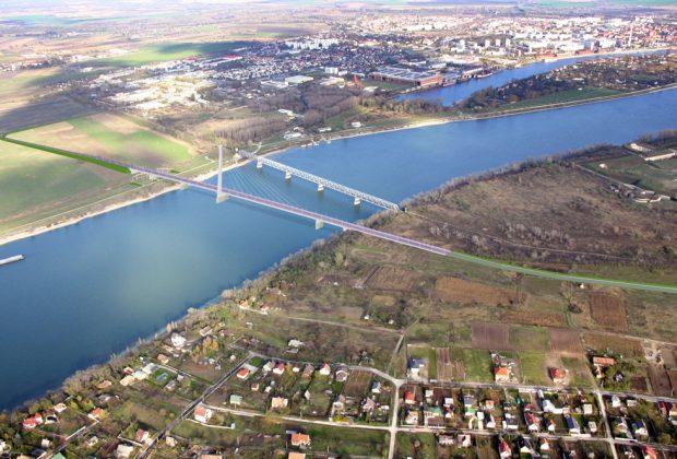 Najvyšší dunajský most, vizualizacia most Komarno