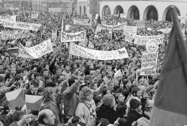 Studentské vteřiny sametu v Olomouci