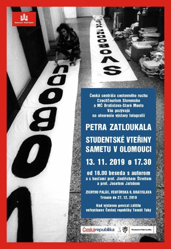 Studentské vteřiny sametu v Olomouci, výstava Petra Zatloukala