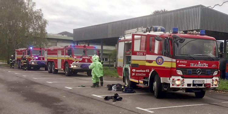 Taktické cvičenie hasičov