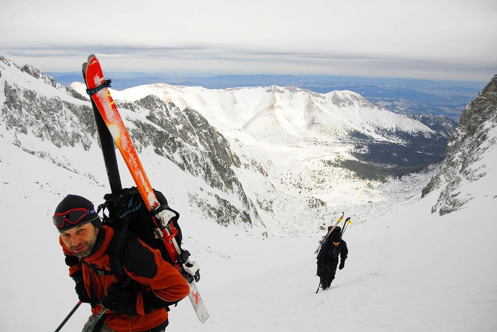 Adrenalínový zimný zážitok, skialp