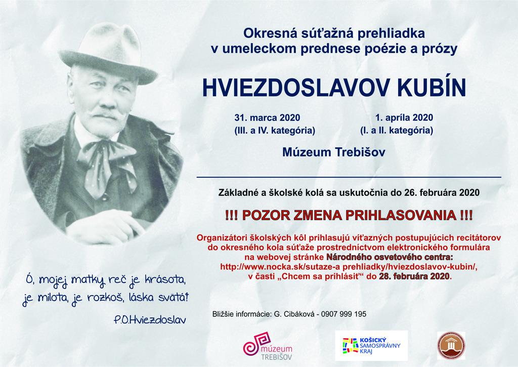 Hviezdoslavov kubin 2020