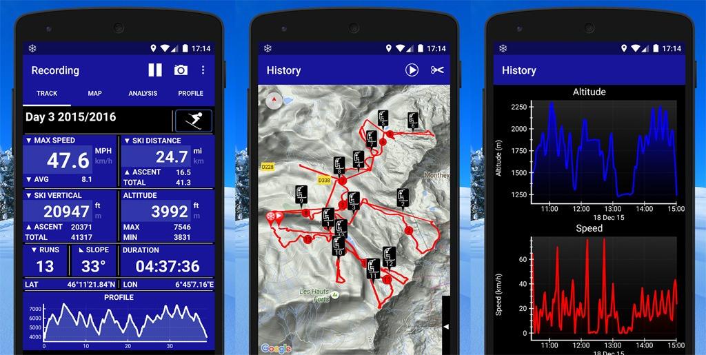 Ski Tracks aplikacia