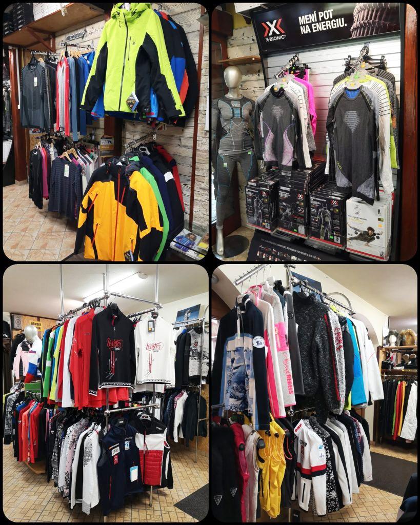 Ski sport Bystra, oblecenie