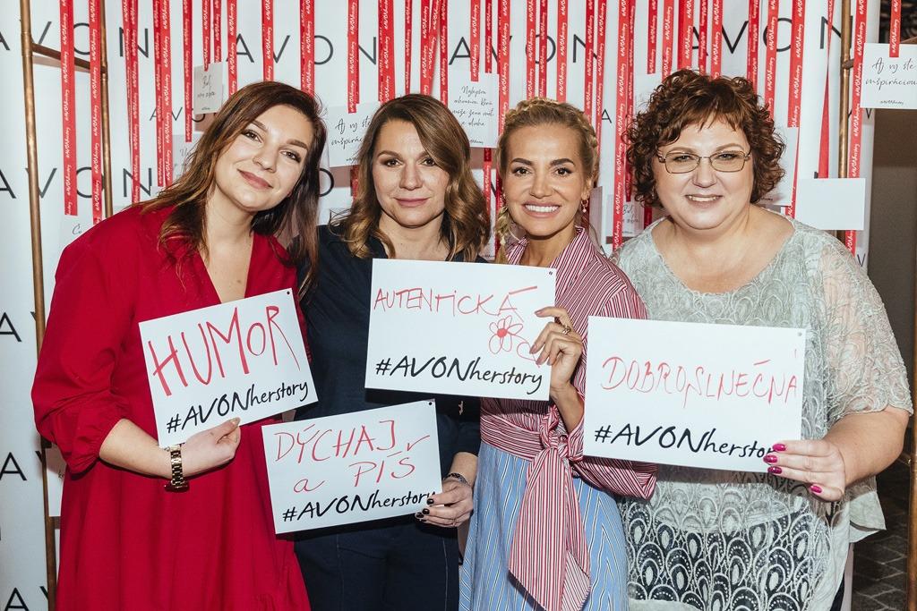 Avon kozmetika, inšpiratívne ženy kampaň Avon za zdravé prsia, Avonherstory, charita