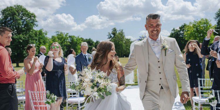 Svadba, modre detaily