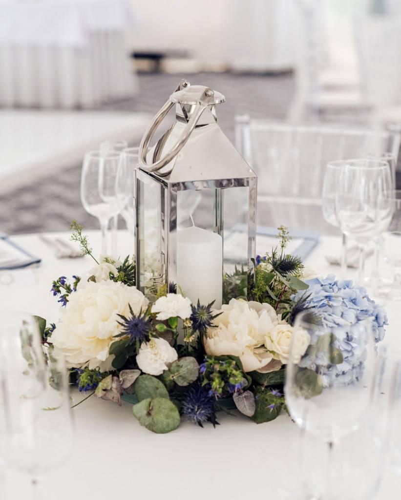 Svadby, modre detaily