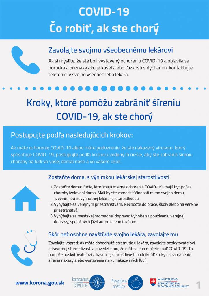 Čo robiť, ak ste chorý_COVID_19-1_Nové infografiky z Ministerstva zdravotníctva SR
