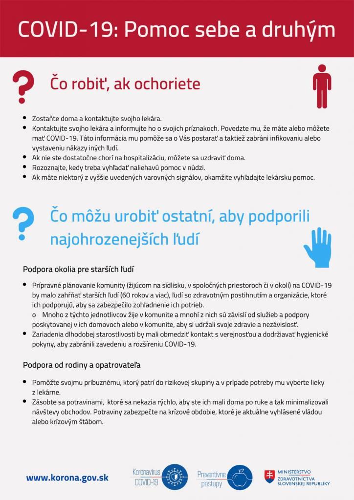 Nové infografiky z Ministerstva zdravotníctva SR_Pomoc sebe a druhým_COVID_19