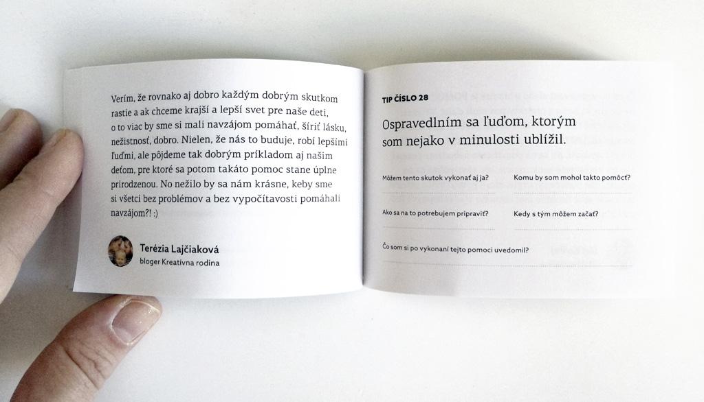 66 dôvodov PREČO sa oplatí nezištne pomôcť – malá knižka VEĽKEJ POMOCI