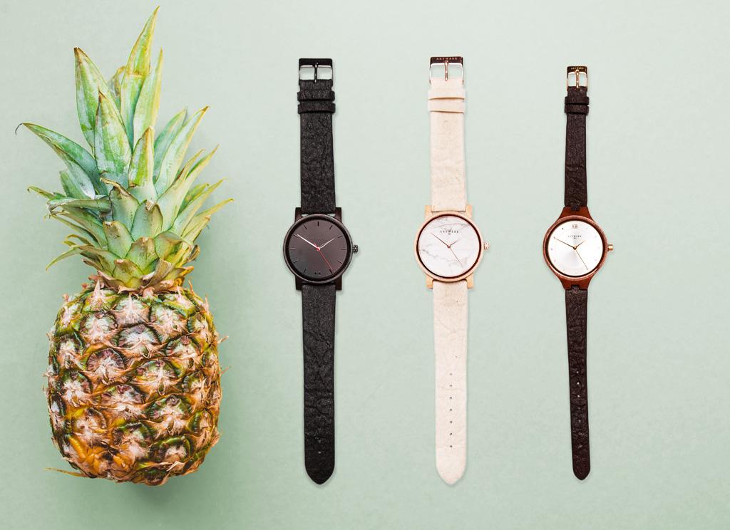 Dizajnové hodinky, Ananasleder