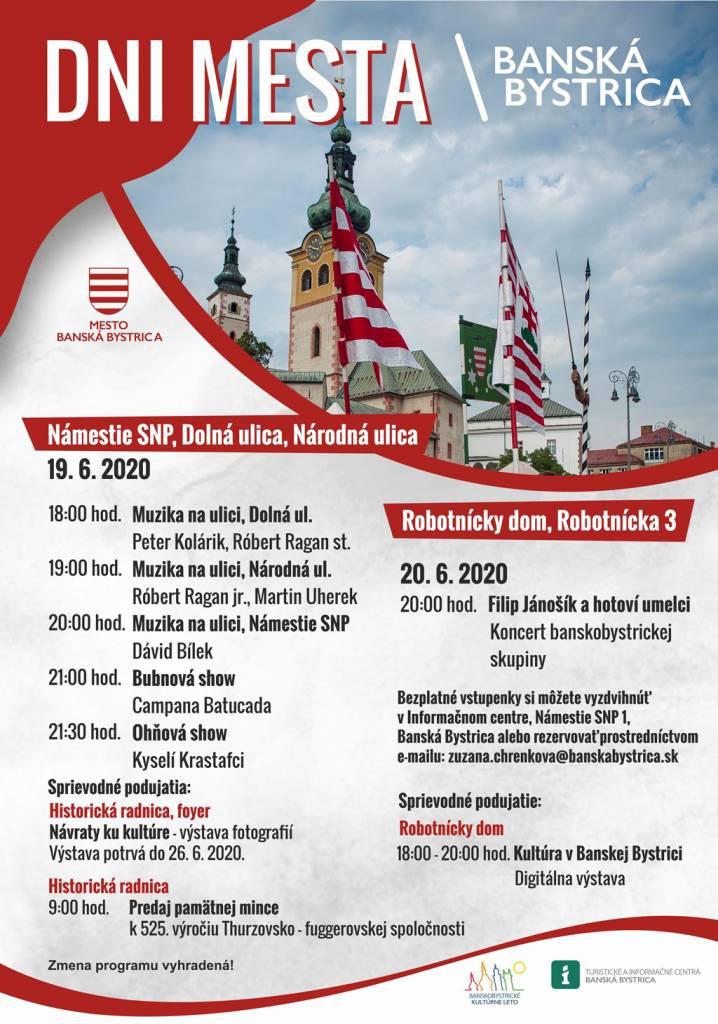 Dni mesta Banská Bystrica 2020 program
