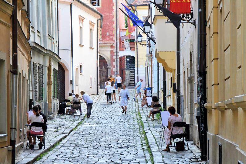 Kreslenie v uličkách Starého mesta 2020