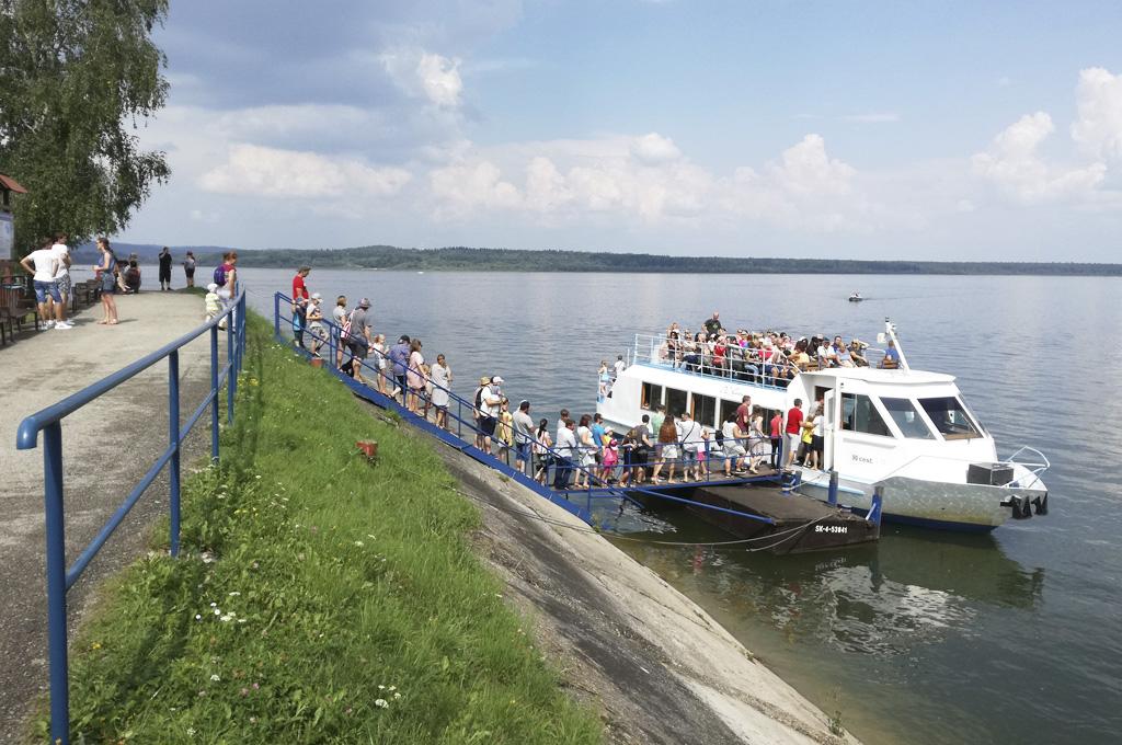Leto na Slovensku – Slanický ostrov umenia aj vás inšpiruje, Loď OG Slanica v prístave č. 2