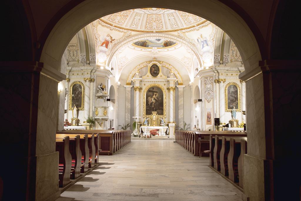 Interiér kostola sv. Františka z Assisi