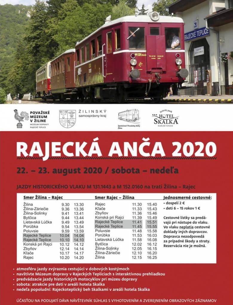Obľúbené podujatie Rajecká Anča má už 10 rokov, plagát 2020
