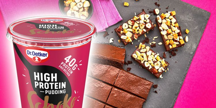 Dr.Oetker_High_Protein Pudding, proteinove-brownie