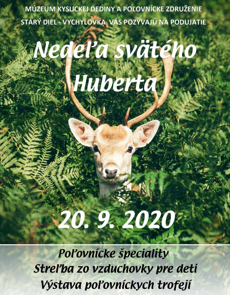 Nedeľa svätého Huberta 2020