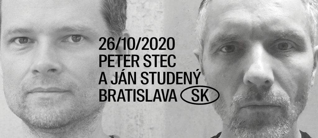 26. októbra 2020 JÁN STUDENÝ a PETER STEC, 30. októbra 2020, NA, Bratislava, Spájame do jedného festivalu DAAD a DAAF 2020
