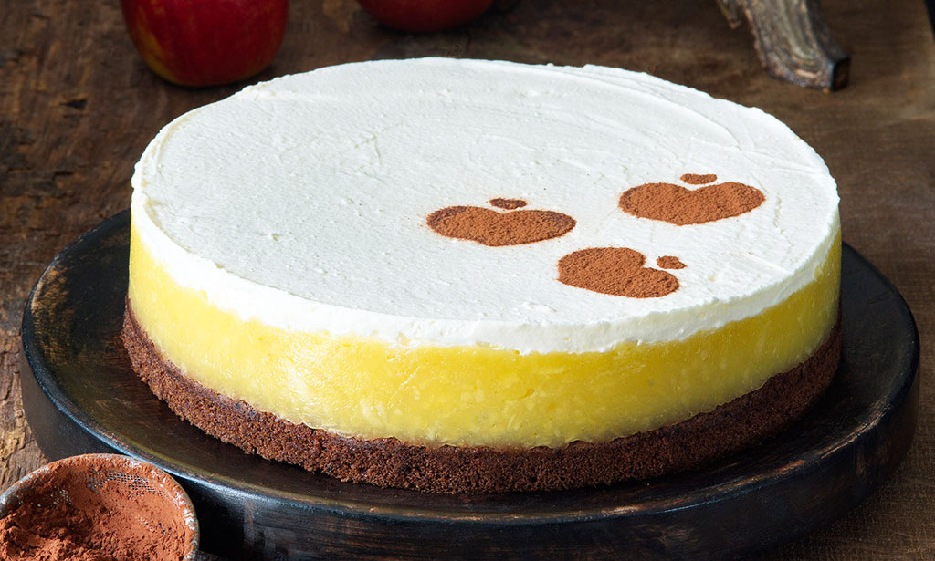 Jablková torta s mascarpone, Dr Oetker prirodne kakao