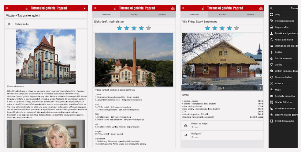Mobilná aplikácia Tatranská Galéria Poprad