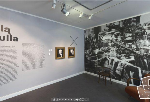 Nová virtuálna prehliadka našej úspešnej výstavy FILLA – FULLA, Osud umělce Osud umelca s audiosprievodom, výstava SNG