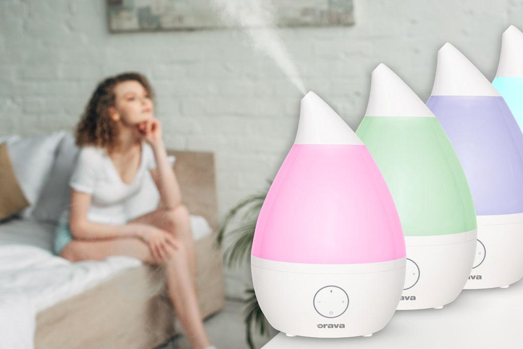Dajte stopku suchému vzduchu u vás doma a užívajte si výhody aromaterapie, Orava HUM42, zvlhcovac vzduchu, doma