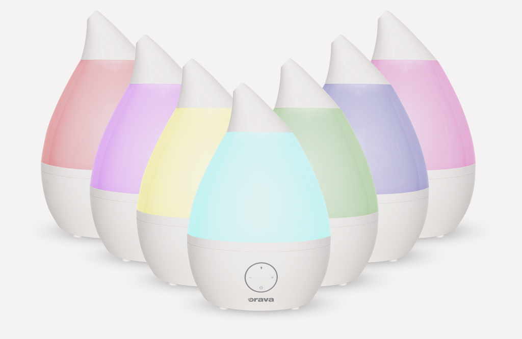 Dajte stopku suchému vzduchu u vás doma a užívajte si výhody aromaterapie, Orava HUM42, zvlhcovac vzduchu, farbebna skala