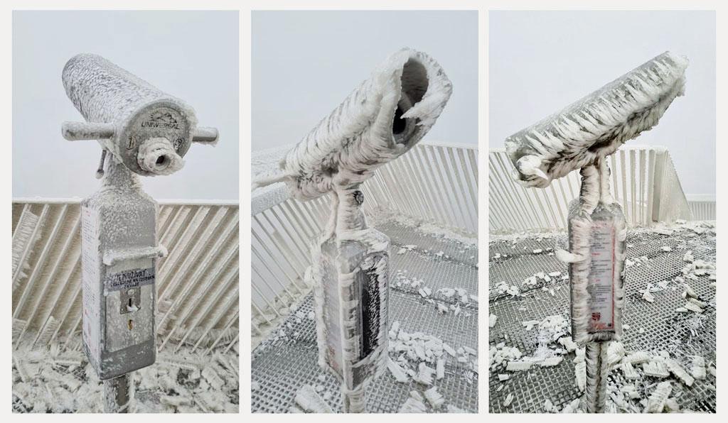 Devínska Kobyla – tradičná prechádzka Bratislavčanov za zimnou idylou, zamrznuty dalekohlad