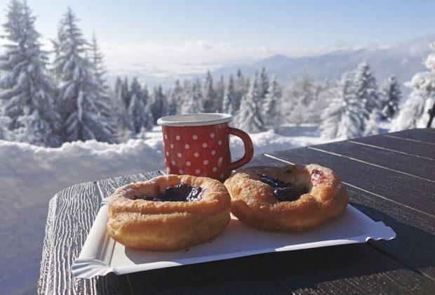 Kľačianska Magura, zimný výlet a fašiangové šišky, turistika