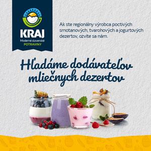 Potraviny Kraj_hladanie_dodavatelov_mliecnych_dezertov