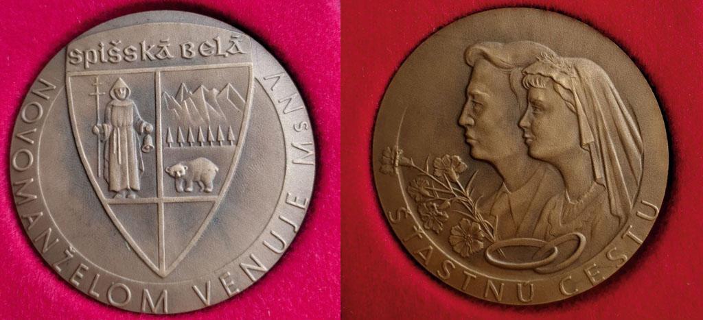 Medaila Novomanželom venuje MsNV Spišská Belá