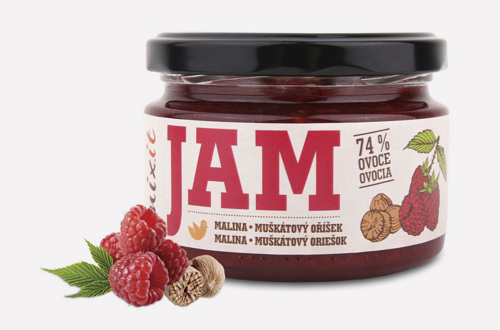 Mixit Jam – Malina s muškátovým orieškom