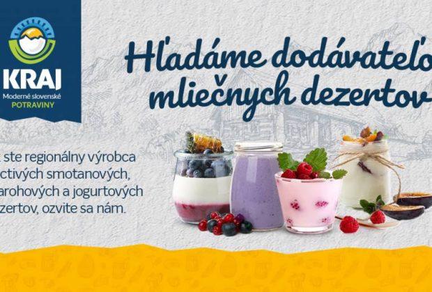 Potraviny Kraj hladanie dodavatelov mliecnych dezertov
