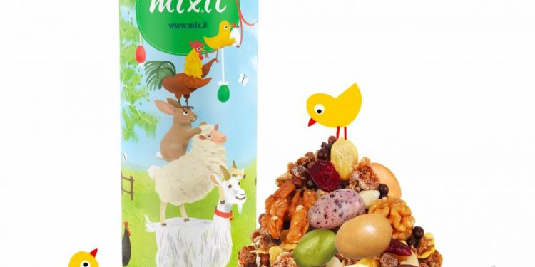 Mixit Veľká noc, oriešky, musli, tyčinky musli, tyčinky, Veľká noc plná chutí a farieb! Tip na originálnu veľ-koko-nočnú Mixit výslužku